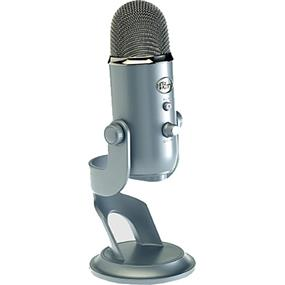 Blue Yeti - Professional quality, 3-capsule USB mic featuring 4 polar patterns, headphone output w/volume control (Platinum)