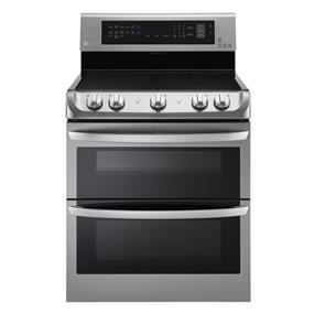 LG 7.3 cu.ft. (3.0 Upper / 4.3 Lower) Double Oven Probake Convection Free Standing Range - Stainless Steel (LDE5415ST)