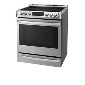 LG  6.3. cu.ft  Electric Slide In Range with Probake Convection - Stainless Steel (LSE5613ST)