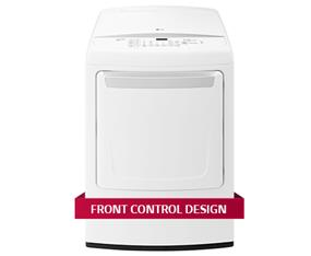 LG 7.3 cu.ft. Alcosta Drum Electric Dryer with Smart Diagnosis - White (DLE1501W)