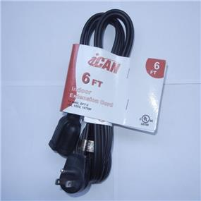 iCAN 6FT Black Extension Cord