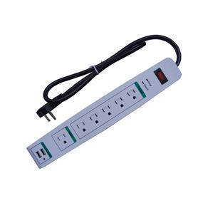 iCAN 6 Outlet Surge Protector + 2x USB 2.4A
