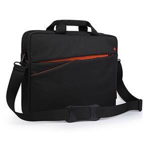 "Miracase OCCUTTs Collection-15.6"" Laptop Toploaded bag (NH-1169R) black w/orange"