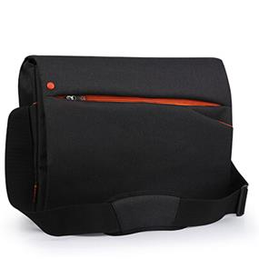 "Miracase OCCUTTs Collection-15.6"" Laptop messenger bag (NH-1269R) black w/orange"