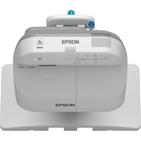 Epson BrightLink 575Wi LCD Projector (V11H601022)- 720p - HDTV - 16:10 - Front, Rear - Interactive - UHE - 215 W - 10000 Hour - 1280 x 800 - WXGA - 2700 lm - HDMI - USB - VGA In - Ethernet - White Color - 2 Year Warranty