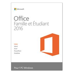 Microsoft Office Home and Student 2016 French 1 License French Only Medialess (79G-04353/79G-04583 )