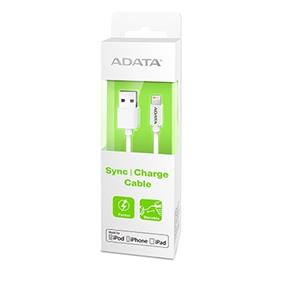 ADATA Sync & Charge Lightning Cable 3.28Ft White (AMFIPL-100CM-CWH)