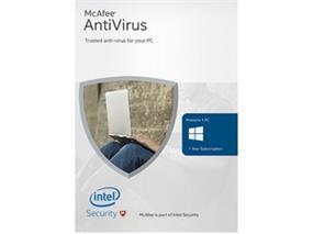 McAfee 2016 AntiVirus Basic 1 Device