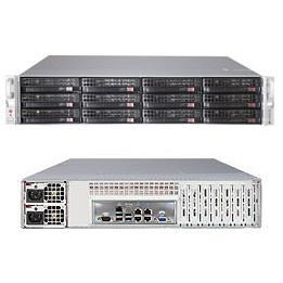 "Supermicro SuperServer 6027R-E1R12L Barebone System - 2U Rack-mountable - Intel C602J Chipset - Socket R LGA-2011 - 2 x Processor Support - Black - 512 GB DDR3 SDRAM DDR3-1600/PC3-12800 Maximum RAM Support - Serial ATA/600, 6Gb/s SAS RAID Supported Controller - Matrox G200eW Integrated - 12 x Total Bays - 12 3.5"" Bay(s) - 5 x Total Expansion Slots - Processor Support (Xeon) - 2 x 920 W"