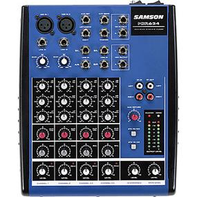 SAMSON MDR624 - 6 Input Stereo Desktop Mixer with 2 XLR Inputs, Phantom Power and 3-Band EQ per Channel