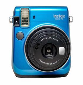 Fujifilm instax mini 70 - Instant Film Camera (Blue) W/ 10 exposure film