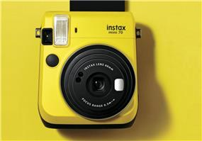 Fujifilm instax mini 70 - Instant Film Camera (Yellow) W/ 10 exposure film