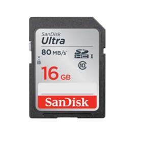 SanDisk Ultra 16GB SDHC Class 10 UHS-I Flash Card Upto 80MB/s Read (SDSDUNC-016G-CN6IN)