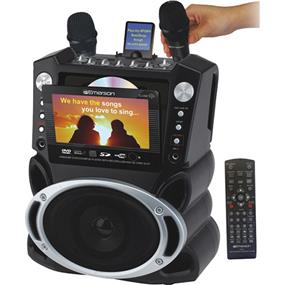 "Karaoke USA GF829 - Karaoke System with 7"" TFT Color Screen & Record Function"