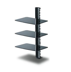 TygerClaw 3-Layers DVD Stand with Black Color Glass (LCD8215BLK)