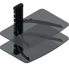 TygerClaw Double Layers DVD Stand with Black Color Glass (LCD8217BLK)