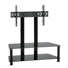 TygerClaw Double Layers TV Stand with 2 black glasses (LCD8403)