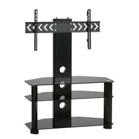 TygerClaw 3-Layers TV Stand with 3 black glasses (LCD8404)