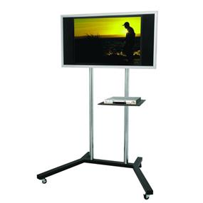 TygerClaw Mobile TV stand with free-moving wheels and brake (LCD8005BLK)