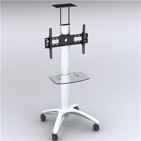 """TygerClaw 32"""" to 60"""" Mobile TV Stand with TV Mounting Bracket & DVD Shelf (LCD8406)"""