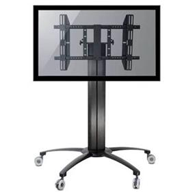 "TygerClaw Mobile TV Stand for 32"" - 55"" TV(Black) (LCD8501)"