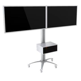 "TygerClaw Mobile 2 TVs Stand for 30"" - 60"" TV (LVW8601)"