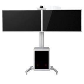 "TygerClaw Mobile 2 TVs Stand for 30"" - 60"" TV (LVW8602)"