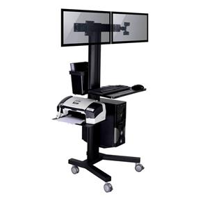TygerClaw Mobile 2 TVs Stand with PC holder (LVW8606)