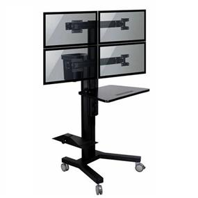 TygerClaw Mobile 4 TVs Stand with PC holder (LVW8607)
