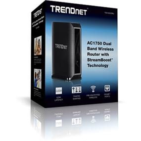TRENDnet TEW-824DRU AC1750 Dual Band Wireless AC Router w/ USB port and Streamboost