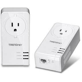 TRENDnet TPL-421E2K Powerline Gigabit AV2 Adapter Kit w/ Pass Through Outlet