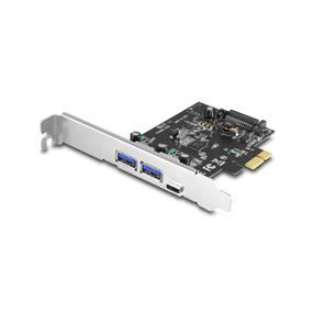 Vantec (UGT-PC331AC) 3-Port USB 3.0 Type A/C PCIe Host Card