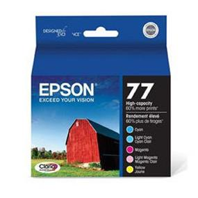 Epson 77 C/LC/M/LM/Y 5-Pack High-Capacity Ink Cartridge