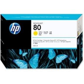 HP 80 Yellow Ink Cartridge - Inkjet - 4400 Page (C4848A)