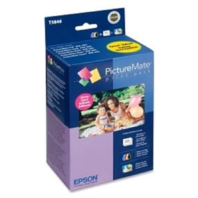 Epson T5846 Ink and Paper Print Pack, Glossy