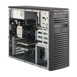 Supermicro SuperWorkstation (SYS-5038A-I) - Mid-Tower - E5-2600v3 / i7 - Socket 2011 - DDR4 - 4x SATA - 900W - Barebone