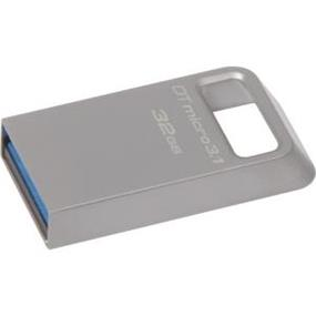 Kingston DTMicro Metal Ultra 32GB USB 3.1/3.0  Flash Drive upto 100MB/s Read,(DTMC3/32GB)