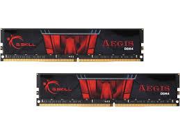 G.SKILL Aegis 32GB (2x16GB) DDR4 DRAM 2400MHz C15 Memory Kit (F4-2400C15D-32GIS)