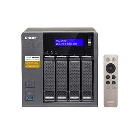 QNAP TS-453A-4G-US 4-Bay Professional-grade NAS. Intel Braswell Quad-core 1.6GHz CPU with Media Transcoding