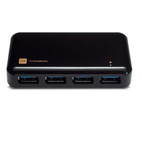 Mediasonic HH5-U34P 4 Port USB 3.0 Hub with 10W Power Adapter (HH5-U34P)