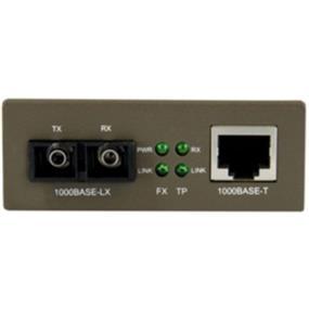 StarTech 1000 Mbps Gigabit Single-Mode Fiber Ethernet Media Converter SC 15km(MCMGBSC15)