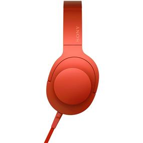 "Sony MDR100AAP/L ""h.ear on"" High-Resolution Audio Headphones (Cinnabar Red)"