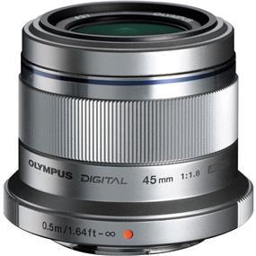 Olympus M.Zuiko Digital ED 45mm f/1.8 Lens (Silver)