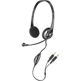 Plantronics Audio 326 Stereo Headset - Stereo - Mini-phone - Wired - 32 Ohm - 20 Hz - 20 kHz - Over-the-head - Binaural - Semi-open - 5.6 ft Cable - Noise Cancelling Microphone