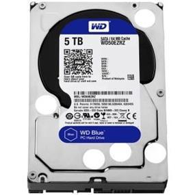 WD Blue 5TB Desktop Hard Disk Drive - 5400 RPM SATA 6 Gb/s 64MB Cache 3.5 Inch - WD50EZRZ