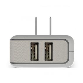PureGear 60729PG Wall Charger Dual USB 4.8A White