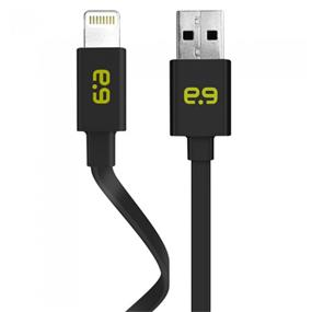 PureGear 60692PG Charge/Sync Flat Cable Lightning 4ft Black