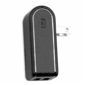 PureGear 60117PG Wall Charger Dual USB 2.4A Black