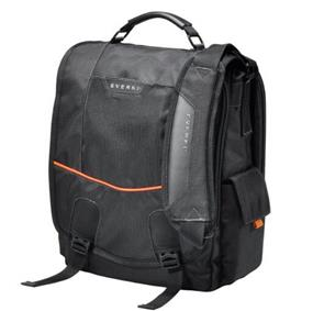 Everki Urbanite Laptop Messenger Bag - 14' Black/Orange