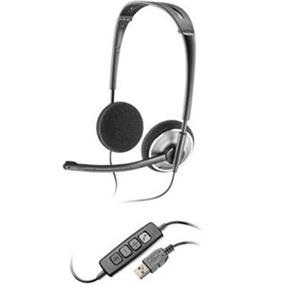 Plantronics 478 Stereo USB Headset - Noise Cancelling Microphone - 6.5 ft Cable